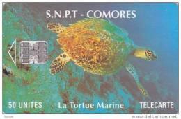 Comoros, COM-10, 50Units, Marine Turtle, 2 Scans - Comoren