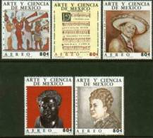 Mexico #C439-43 F-VF, Mint NH ** Art And Science - Mexico