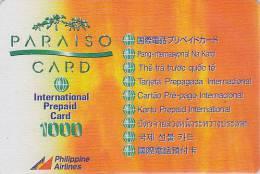 Télécarte Prépayée Philippines - PHILIPPINE AIRLINES Prepaid Phonecard - Airplane Avion Flugzeug Telefonkarte - 308 - Flugzeuge