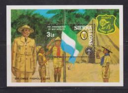 Sierra Leone 1982 Boy Scout Anniversary Miniature Sheet MNH - Sierra Leone (1961-...)