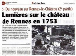 RENNES-LE-CHATEAU - AUDE - LOT DE 4 ARTICLES INEDITS Sur L'HISTOIRE DE RENNES - History
