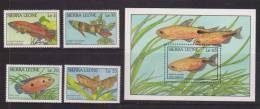 Sierra Leone 1988 Fish Set 4 & Miniature Sheet MNH - Sierra Leone (1961-...)