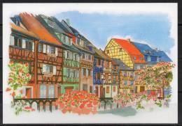 Alsace - Colmar - Carte Postale D'après Une Aquarelle - Colmar