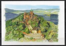 Alsace - Haut-Koenigsbourg - Carte Postale D'après Une Aquarelle - France