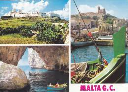 Cp , MALTE , Mdina , Blue Grotto , Multi-Vues - Malte