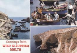 Cp , MALTE , WIED IZ ZURRIECQ , Greetings , Multi-Vues - Malte