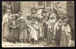 CPA ANCIENNE- ALGÉRIE- GROUPE D'ENFANTS DE LA TRIBU DES BENI-RAMASSES- TRES GROS PLAN - Argelia