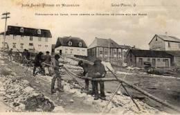 SAINT PIERRE ET MIQUELON PREPARATION DU CABLE ST PIERRE - Saint-Pierre-et-Miquelon