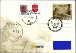 Latvia Lettland Lettonie 2012 Medical History Museum Riga Skull Skeleton (addressed Postcard) - Latvia