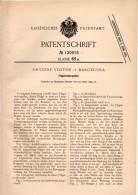 Original Patentschrift - A. Voltor In Barcelona , 1899 , Flügelrad - Propeller Für Schiffe , Schiff !!! - Boats