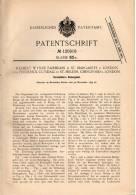 Original Patentschrift - F. Cundall In St. Helens , Chingford Und St. Margarets , 1899 , Verstellbare Rudergabel , Boot - Schiffe