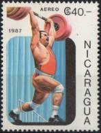 NICARAGUA 1987 - PANAMERICAN GAMES - WEIGHTLIFTING - MINT - Pesistica