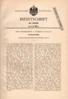 Original Patentschrift - N. Fredriksson In Svedala , Schweden , 1899 , Trockenvorrichtung ,für Ziegel , Ziegelei !!! - Architektur