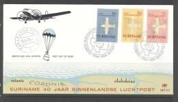 SURINAME 1970 FDC E77  AVIATION BLANCO VERY FINE - Suriname ... - 1975