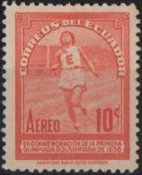 ECUADOR 1938 - 1st BOLIVIAN OLYMPIAD - ATHLETICS - MINT - Atletica