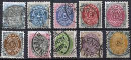 DENMARK 1875-79 - Yv.22-29 (Mi.22-31, Sc.25-34) Compl. Set (F-VF) - Usati