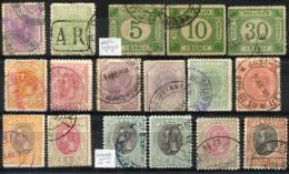 ROMANIA - Accum. Of Stamps And Rare Postmarks (all VF) - 1881-1918: Carol I.