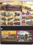 DOMINICA,1996,TRAINS, STEAM TRAINS,2 SHEETLETS+ 2 S/SHEETS, MNH, - Treinen