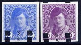 YUGOSLAVIA 1918 3/2h, 5/6h Double Surcharges MNH / **.  Michel 21-22D - Ungebraucht