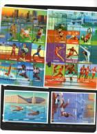 GAMBIA, 1996,ATLANTA OLYMPICS,SWIMMING,ATHLETICS, 2 SHEETLETS+ 2 S/Ss, MNH, - Zomer 1996: Atlanta
