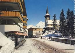 4 AK; Schweiz, Suisse - AROSA - Mondscheinnacht, Dorfpartie - Poststraße, Obersee Mit Schiesshorn, Schlittenfahrt - Cartes Postales