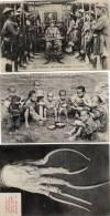 3 Cp ANNAM Mandarin HONG KONG Garcons Chinois COCHINCHINE Un Lettré - Cartes Postales