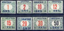 YUGOSLAVIA 1918 Croatia Postage Due Set LHM / * - Postage Due