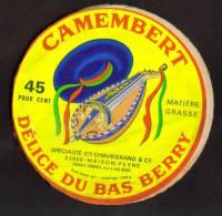 Maison Feyne Etiquette Camembert Bas Berry Chavegrand - Kaas