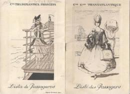 1926 Cie Générale Transatlantique Liste Des Passagers Illustrée Ligne Des Antilles CGT Peut-être Votre Ancêtre!!!RARE - Boats