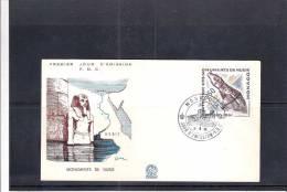 FDC Monaco De 1961 - Monuments De Nubie - Egyptology