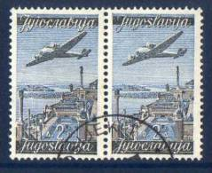 YUGOSLAVIA 1947 Air 2d Transposed Inscription Used.  Michel 517II/I Cat. €70. - 1945-1992 Socialist Federal Republic Of Yugoslavia