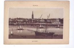 SAINT MALO Port  Publicite Magasin De Nouveautes A TOURS E. Saintin - Publicités