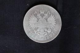 RUSSLAND RUSSIA RUSSIE ROUBLE 1897 SILVER Silber NICHOLAS II - Rusia