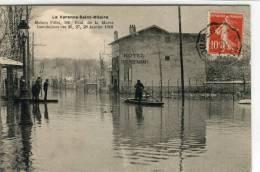 CPA 94 LA VARENNE SAINT HILAIRE MAISON PILLET 106 BOUL. DE LA MARNE INONDATIONS JANVIER 1910 - Otros Municipios