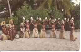 TAHITI PAEA  .. DANSEUSES SUR LA PLAGE DE PAEA - Polynésie Française