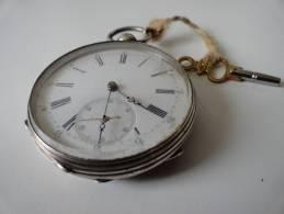 RARE: GOUSSET EN ARGENT  A. JEANNOT DROZ ( BESSANCON) - Orologi Da Polso