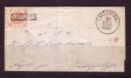 2 Gr Rosa Chiaro Del 1858 Su Lettera Del 29 Maggio 1859 Da Altamura Per Campobasso - Napoli