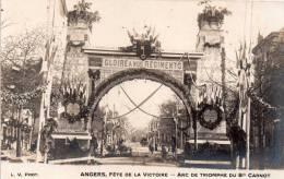 Carte Photo 49 Angers , Les Fetes De La Victoire ,arc De Triomphe Bd Carnot - Angers