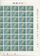 J.J AUBUDON  STERNE PIERRE GARIN    + FEUILLE DE 40 TIMBRES A 4,30 FRANCS - Feuilles Complètes