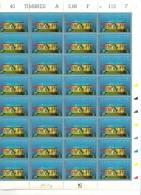 ASSEMBLEE NATIONALE       + FEUILLE DE 40 TIMBRES A 2,80 FRANCS - Feuilles Complètes