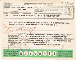 Telegramma ROMA A NAPOLI (Italia) 1958 - 6. 1946-.. Republic
