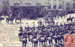 Belgique  Liège   Exposition Internationale 1905  Visite Du Roi  (angle Haut Droite Pli) - Belgique