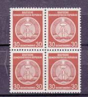 1955  N°24 BLOC DE 4 NEUF** - Service