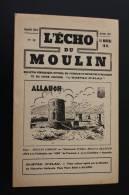 """Jan 1947—> ALLAUCH En Provence Bouches-du-Rhône""""L'écho Du Moulin""""Syndicat D'initiative N°17 Rubriques Histoire. - Provence - Alpes-du-Sud"""