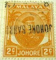 Johore 1949 Sultan Sir Ibrahim 2c - Used - Johore
