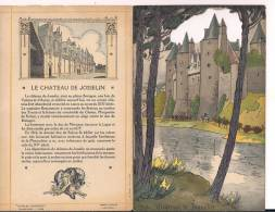 Josselin Le Chateau Diane Bretagne Menu Champagne Charles Hiedsieck Env 1930 Dessins Pierlis - Menus