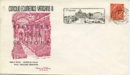 ITALIA - FDC UNIVERSAL EDITRICE 1964 - CONCILIO ECUMENICO VATICANO II - ANNULLO SPECIALE SAN PIETRO - F.D.C.