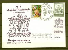 REPUBLIK ÖSTERREICH, 14/11/1980 Markenschau Langenlois  (GA3074) - Wijn & Sterke Drank
