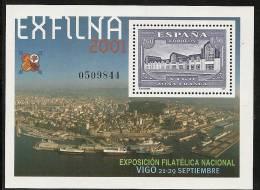 2001-ED.3816 H.B.-EXFILNA`01, VIGO--NUEVO - Blocs & Hojas