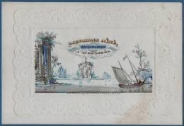 1850 - CARTE PORCELAINE  13 X 8 CM - AVOCAT ET MAIRE DE AUDENARDE LIEFMANS AINE - RARE !!! - Oudenaarde